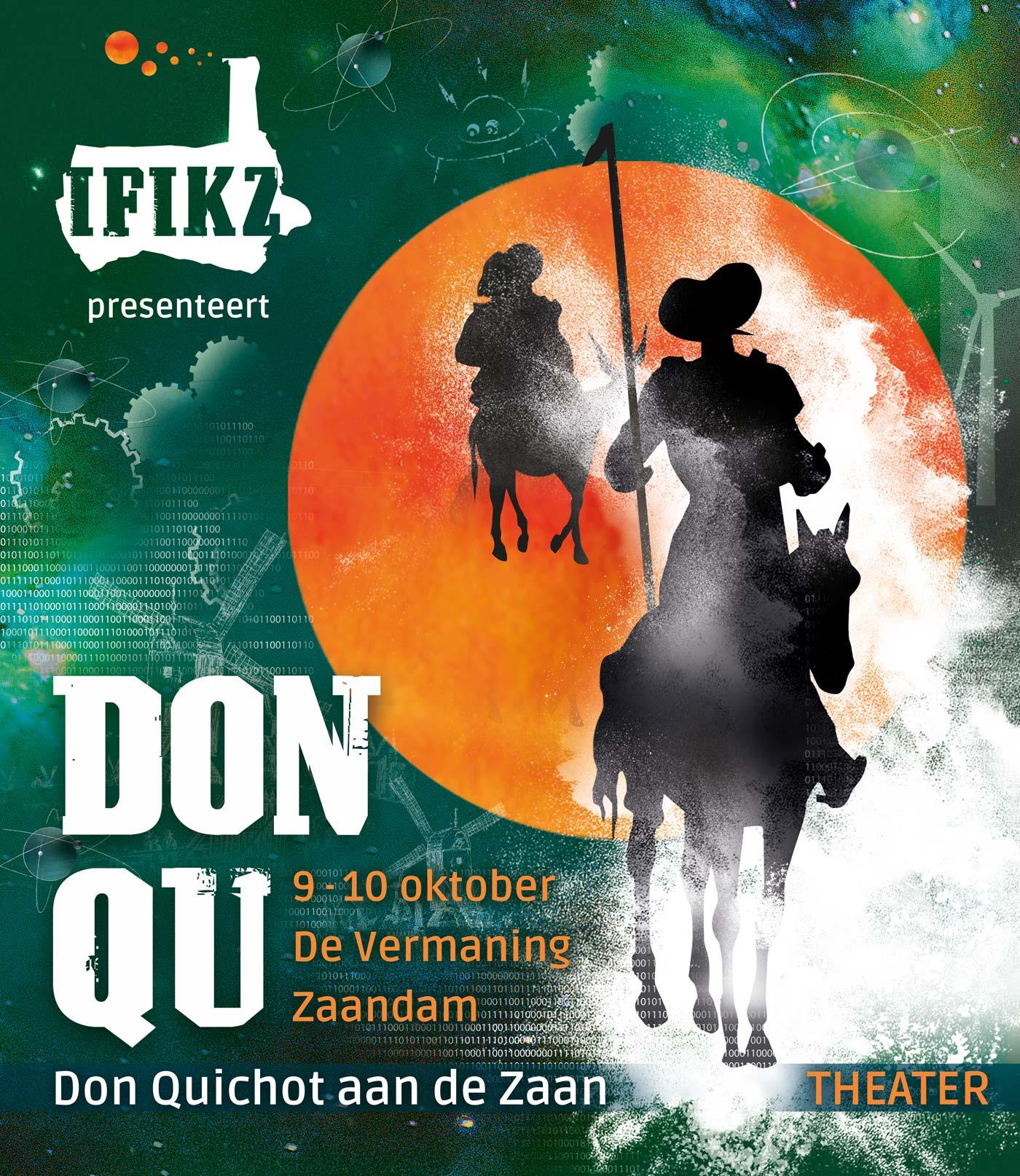 poster Don Quichot aan de Zaan